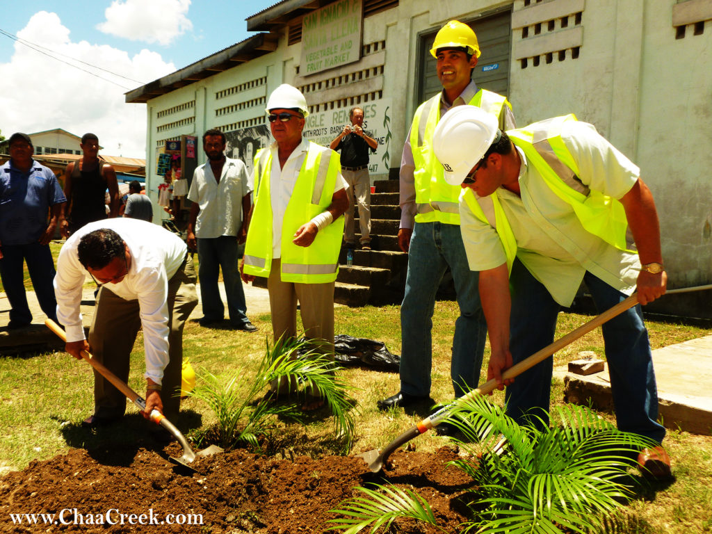 Cayo Welcome Center groundbreaking ceremonies, Hon Rene Montero, Hon Manuel Heredia & Mayor John August