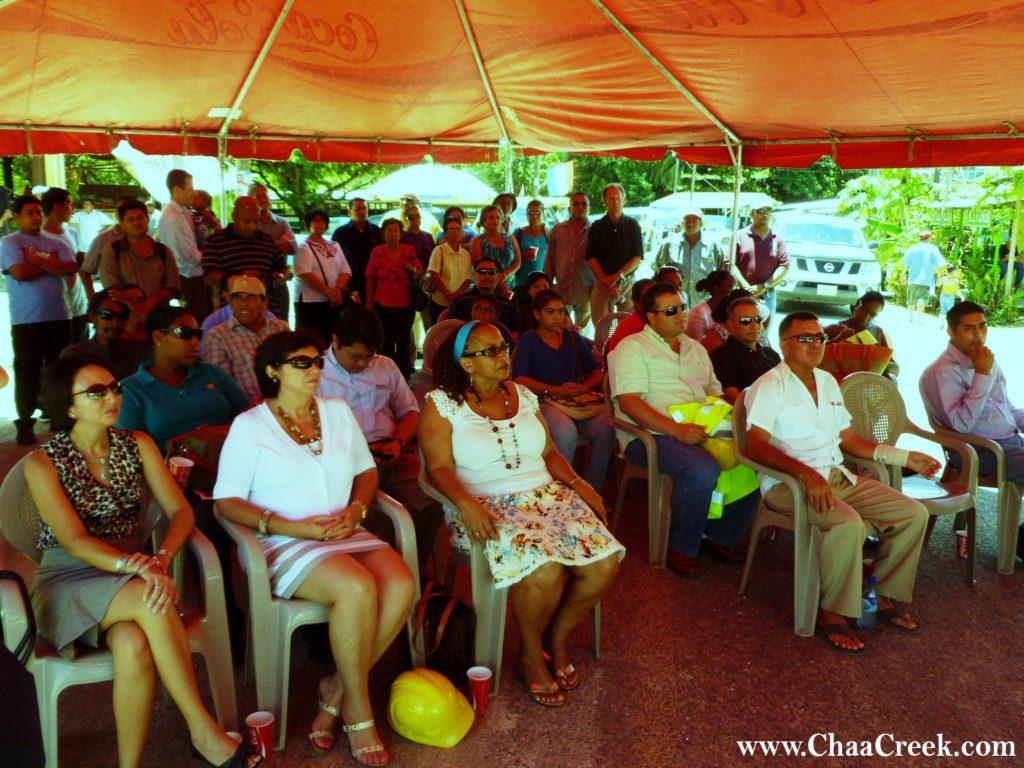 BTB's Seleni Matus, Hon Manuel Heredia, Miriam Roberson, Diane Haylock, Mayor Jon August