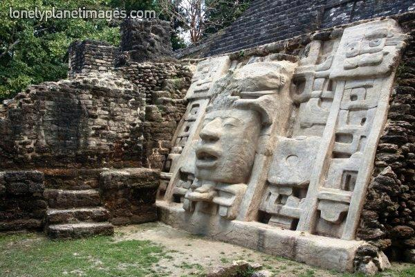 Lamanai Maya ruins in orange walk Belize