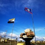 Belize Photo of the Day: The Belize and Garifuna Flag in Dangriga