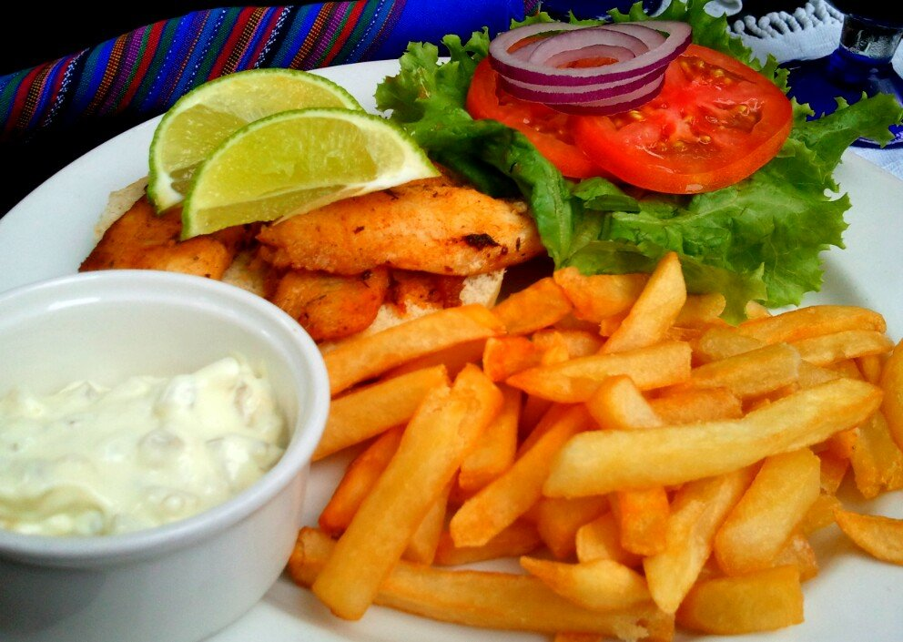 Caye Caulker fish burger