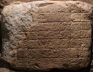 Carved Maya stone