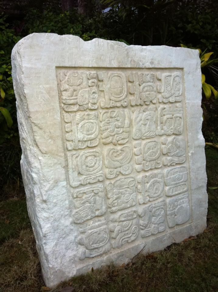 """Historic"" 2012 Maya Stela"