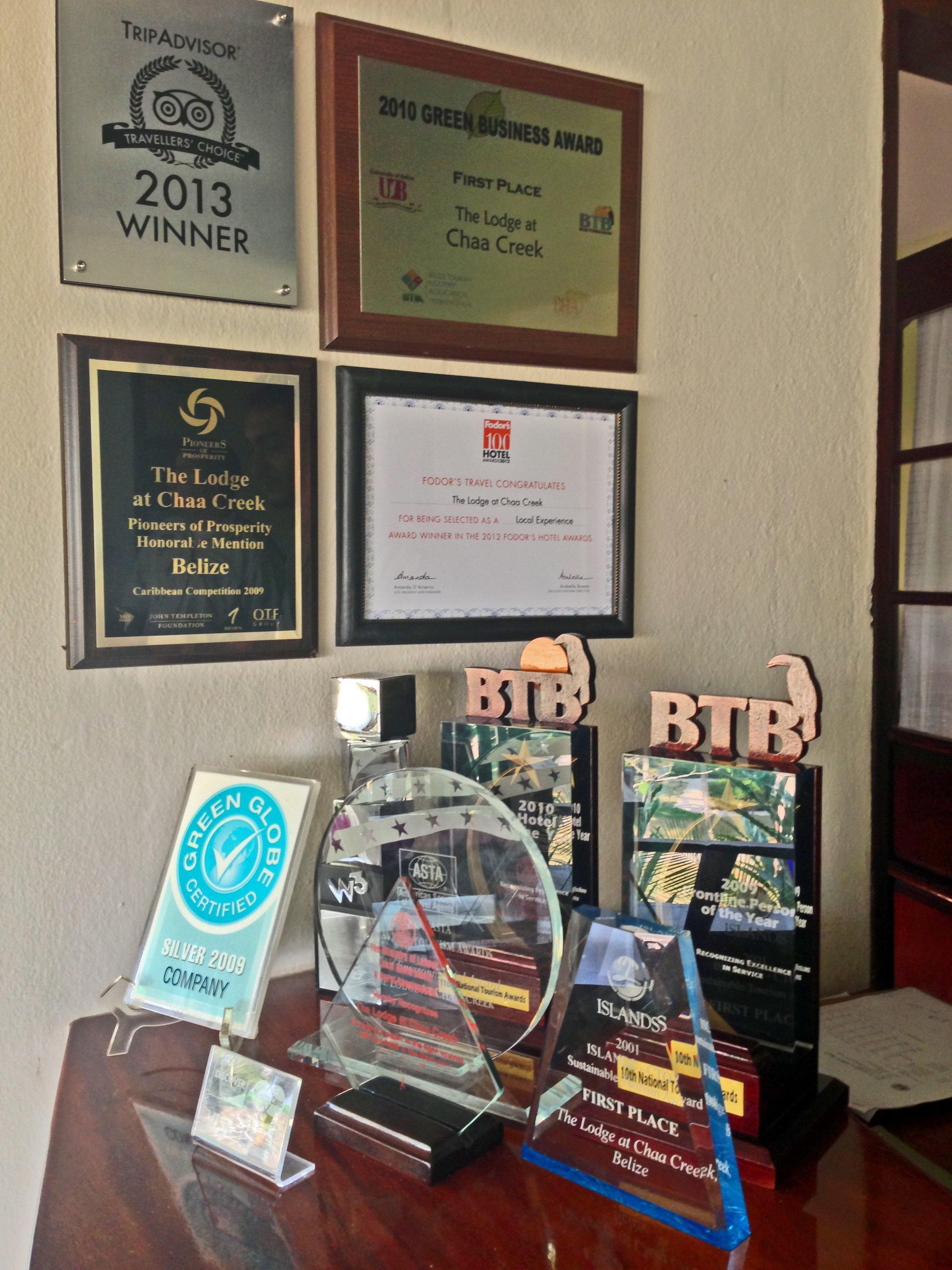 Chaa Creek Awards