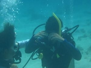 Rowan Garel training underwater