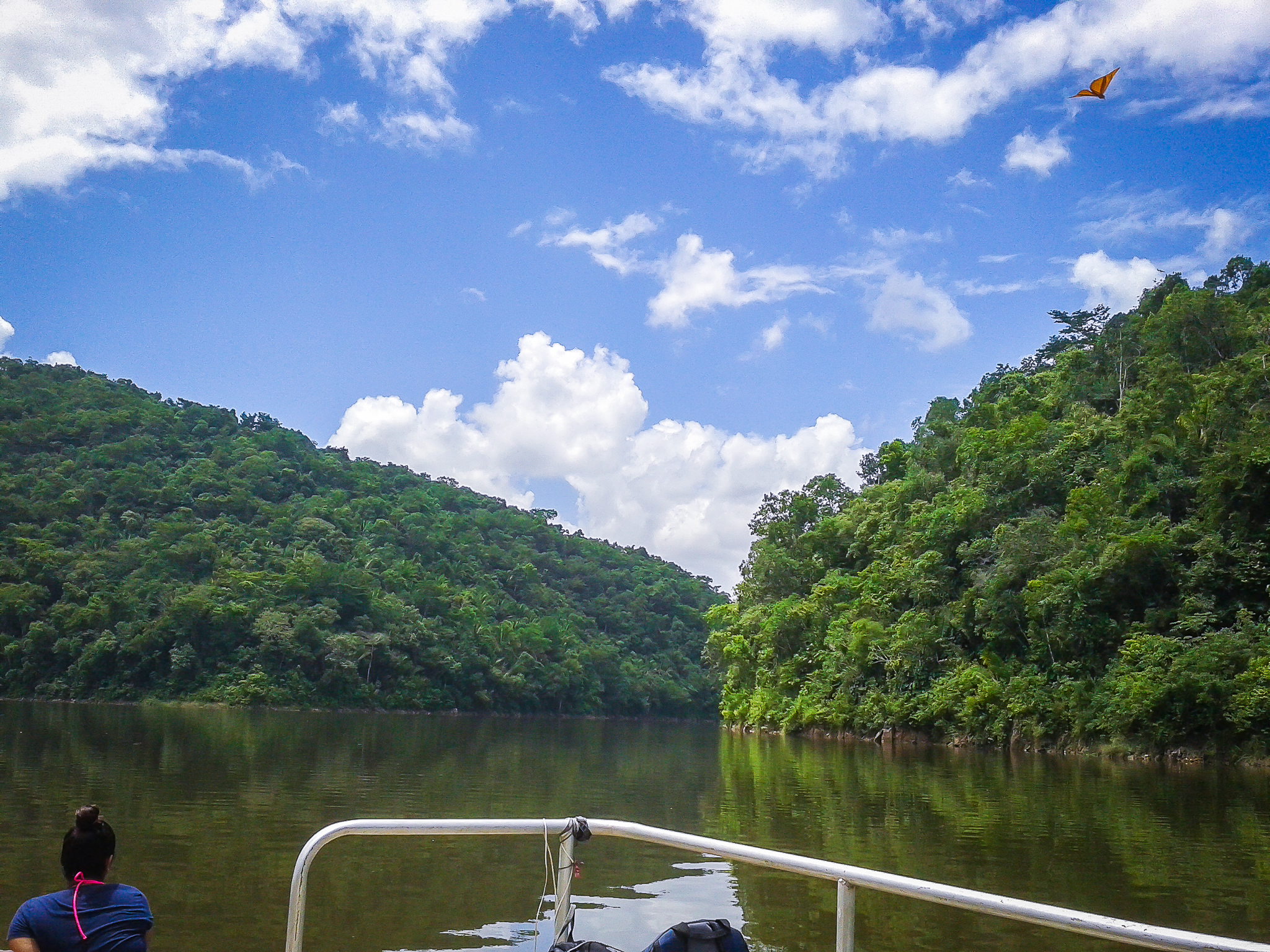 Belize tours Pontoon on the Vaca Lake