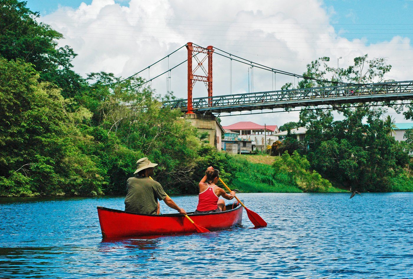 Canoeing-in-Belize-River-Hawksworth-Bridge
