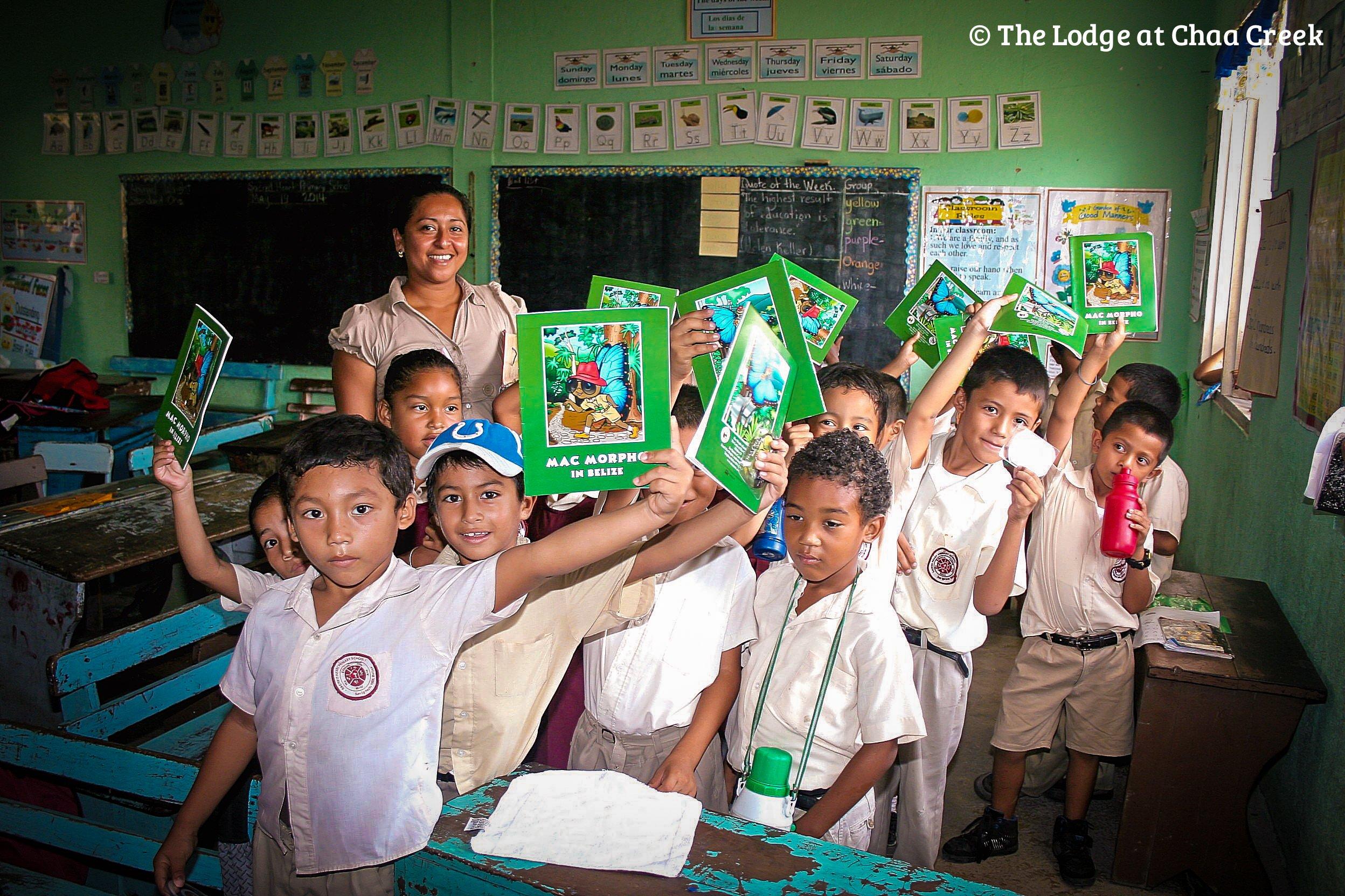 Belize Butterflies on the Road: Chaa Creek visits school