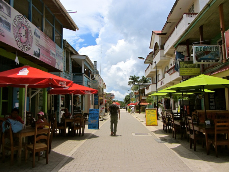 Burns Avenue in downtown San Ignacio, Belize!