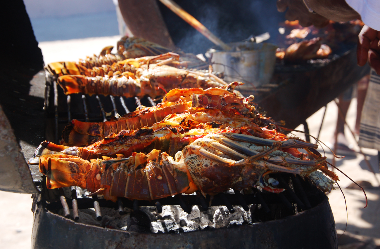 Grilled Lobster Tail in Caye Caulker Belize