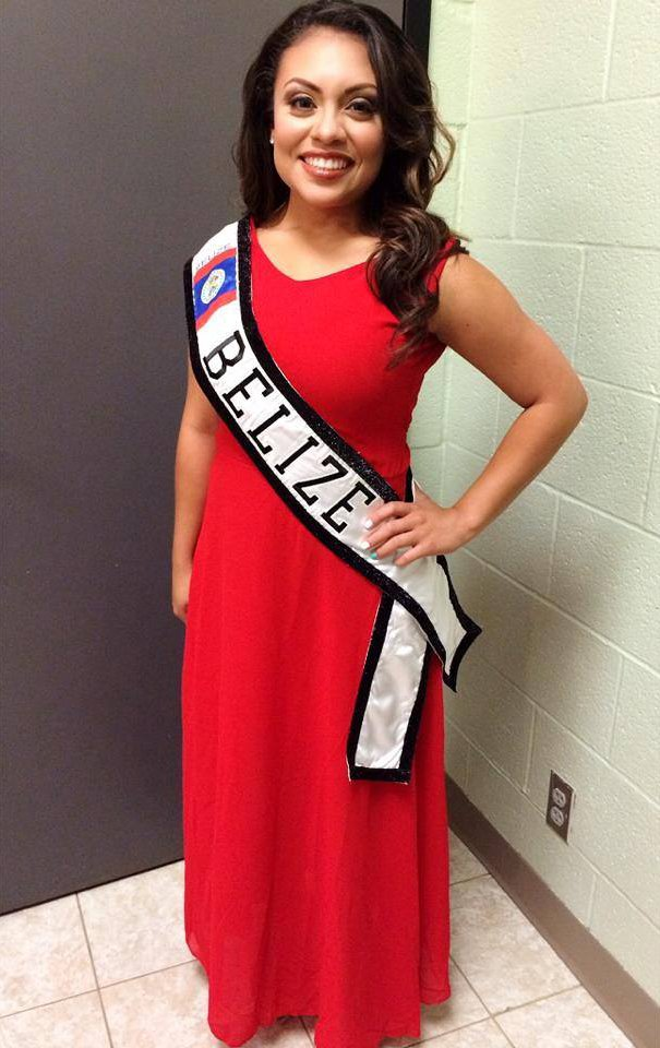 Miss Rheisha Shoil representing Belize at the Houston Queen Pageant