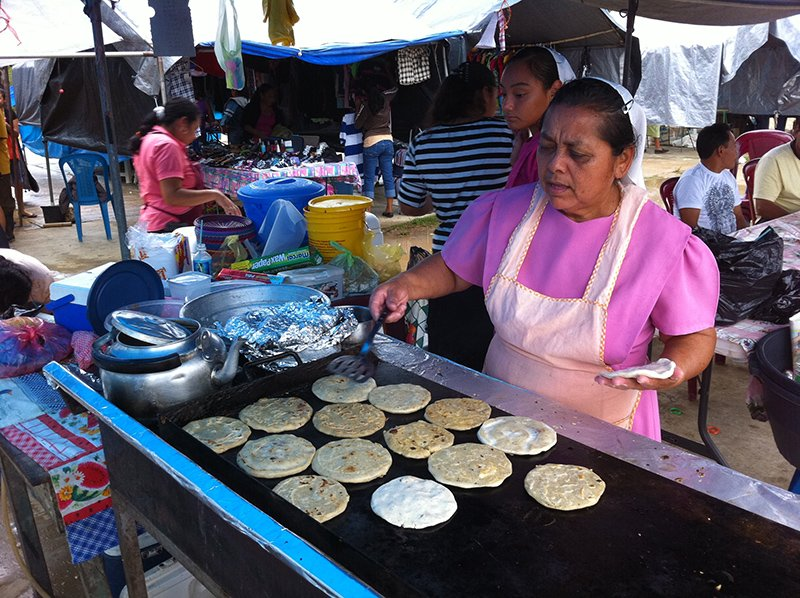 Can't miss pupusas on market day in San Ignacio!