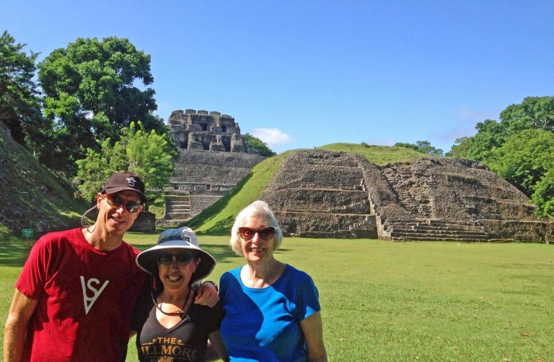David Meerman Scott, his wife, and mom in Belize!