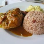 Belize Recipes: Stew Chicken with Rice & Beans