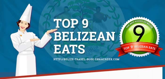 Belize Food Infographic by Belize Travel Blog