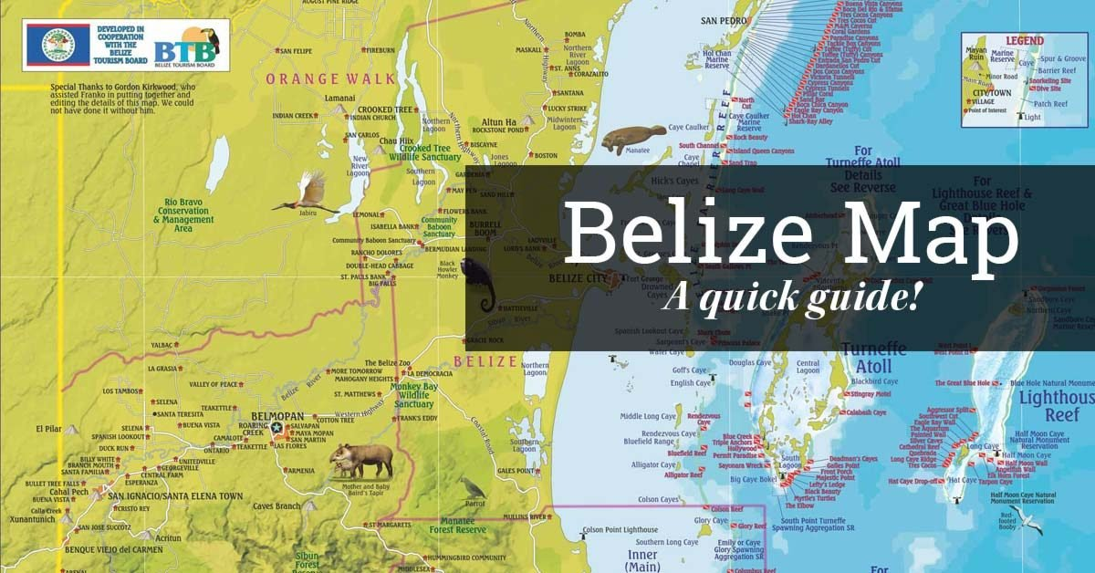 Belize Map Map of Belize – Belize Tourist Map