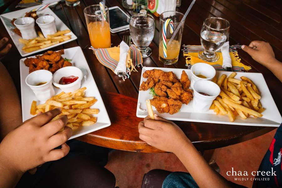 chaa creek Christmas cheer 2017 food