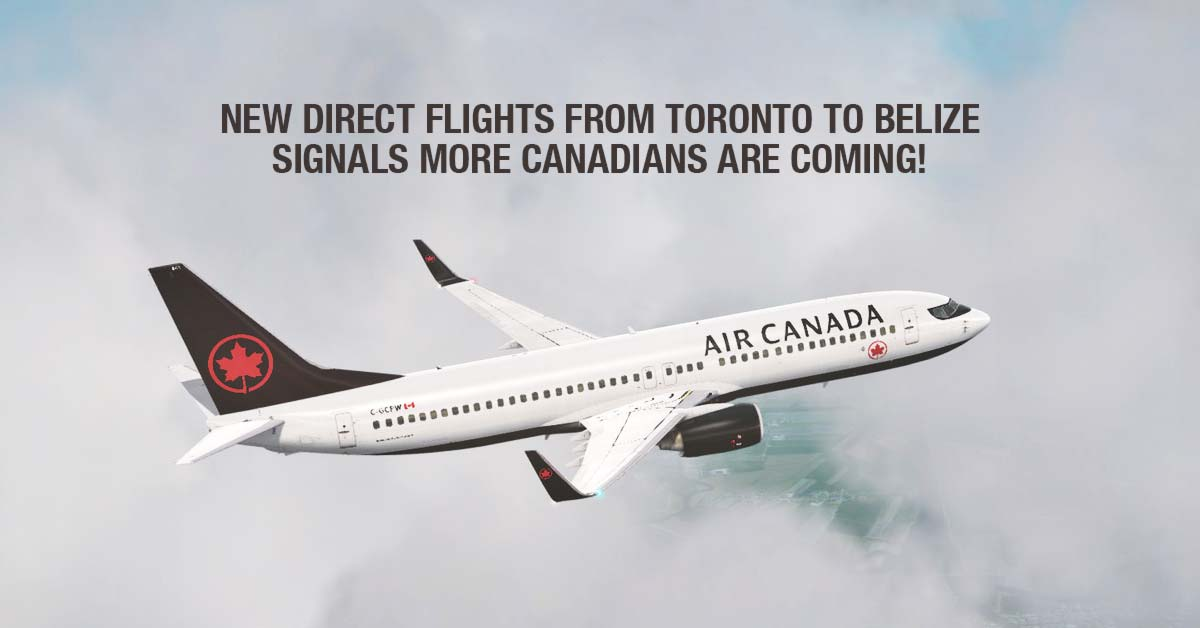 New direct flights from Toronto to Belize by Air Canada