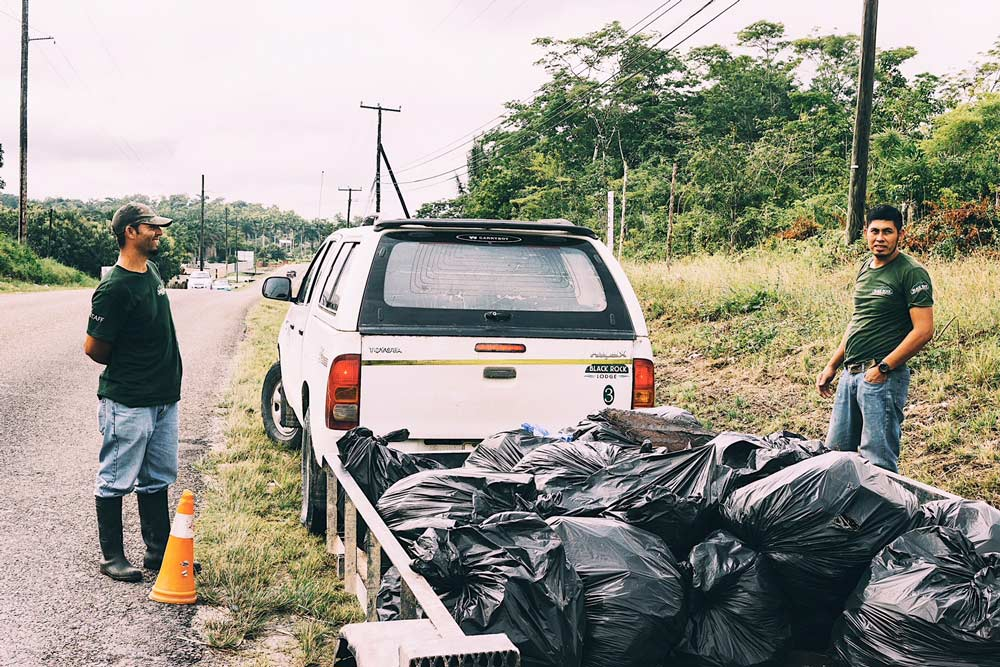 belize sustainable tourism cleanup campaign garbage black rock