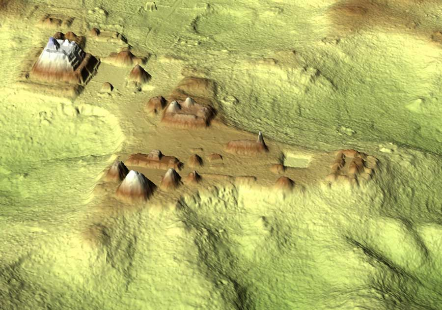 massive maya city revealed by laser in Belize