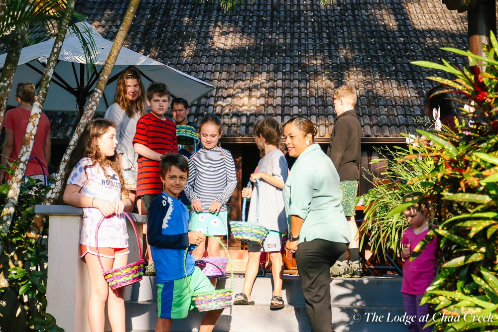 families easter egg hunt at chaa creek