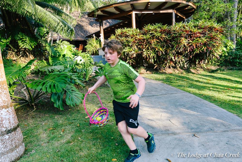 Easter egg hunt racing chaa creek