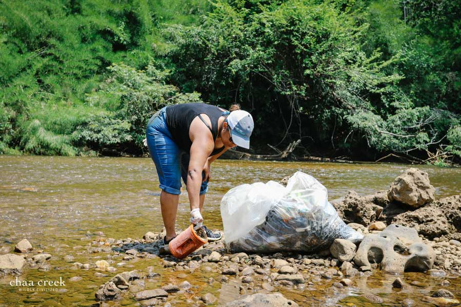 chaa creek belize river cleanup denise