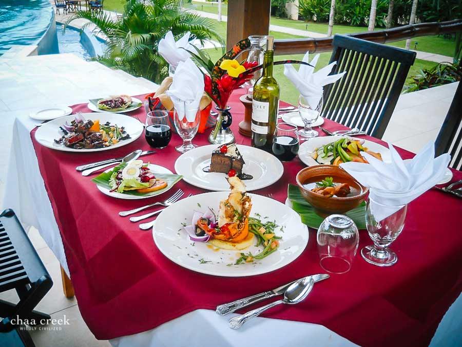 Prince Harry Wedding Honeymoon Food Menu at Chaa Creek