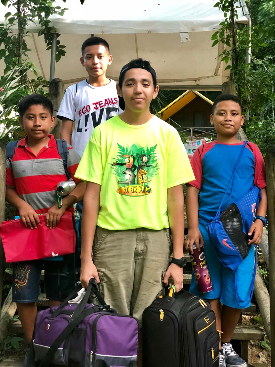 Eco Kids summer camp 2018 kick off boys