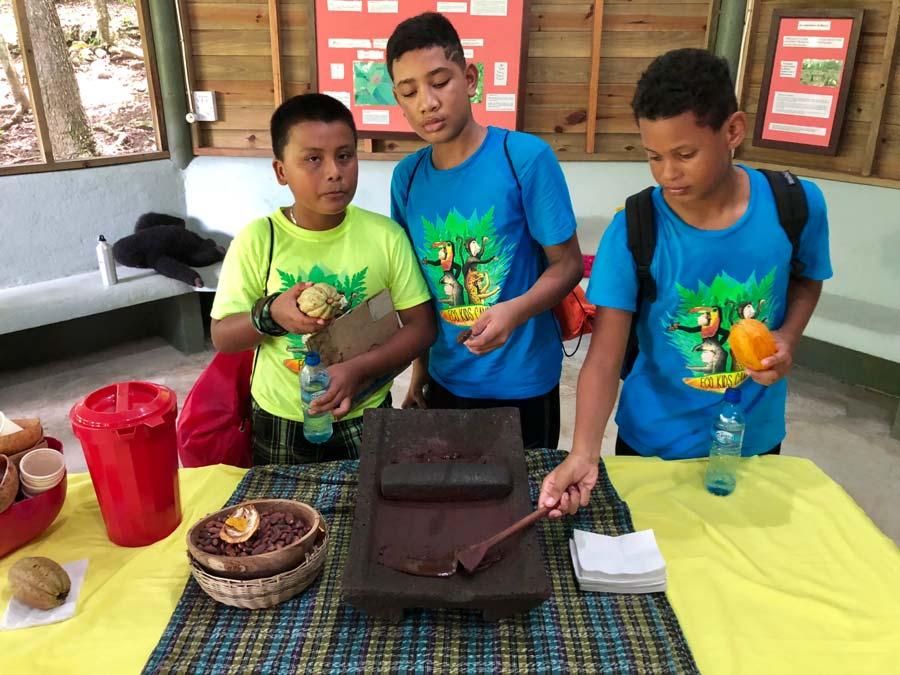 Eco kids summer camp 2018 day 3 maya chocolate