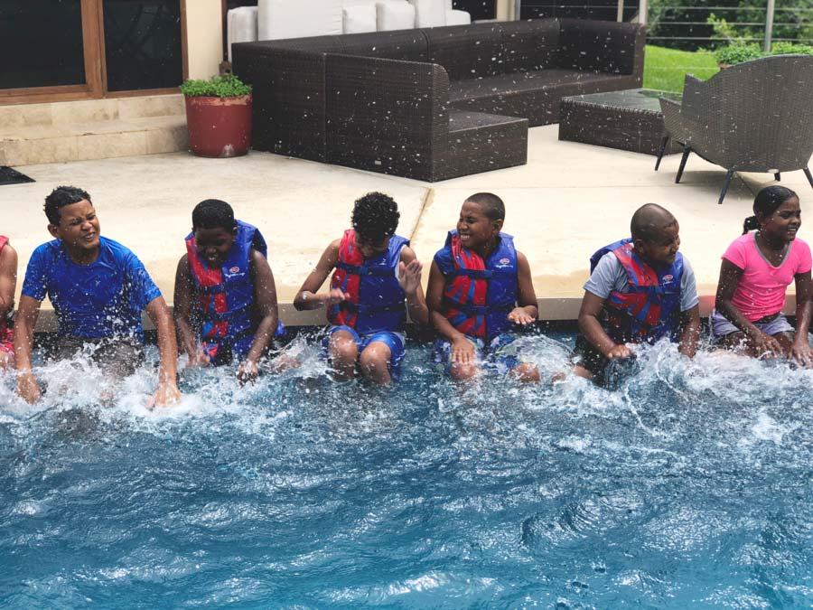 Eco Kids summer camp chaa creek 2018 day 2 swimming