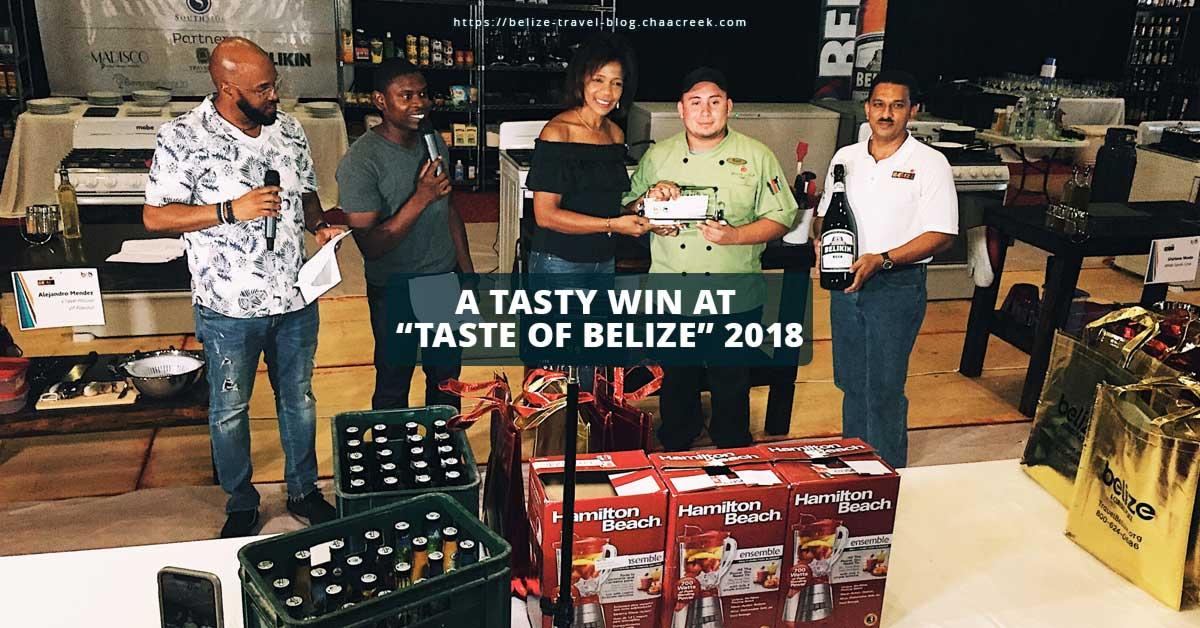 taste of Belize 2018 win chef rojel header