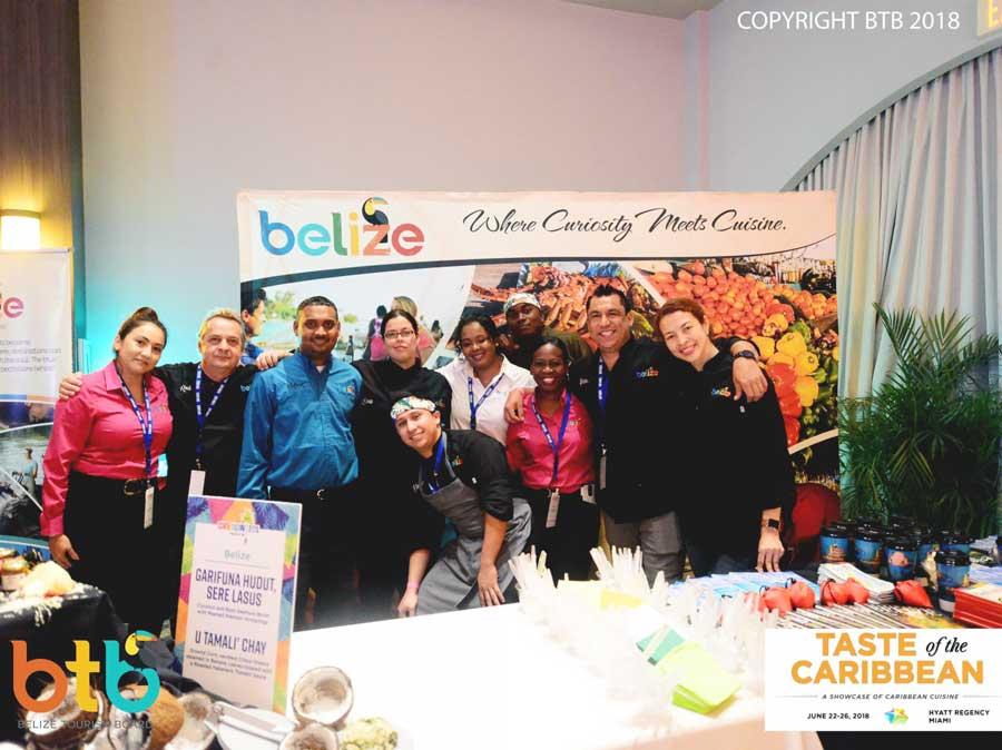 Taste of the Caribbean belize chefs representing in Miami