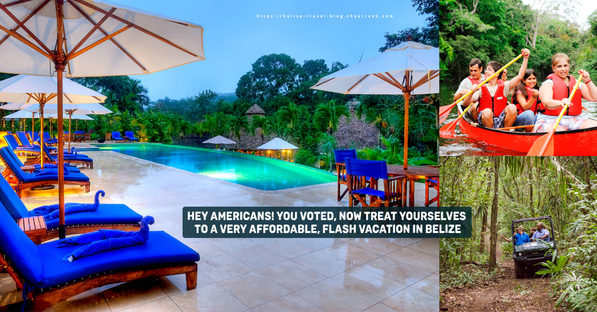 US elections rewards with belize vacation at chaa creek