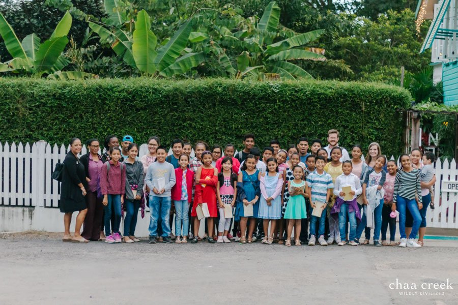 belize Christmas caroling 2018 group photo