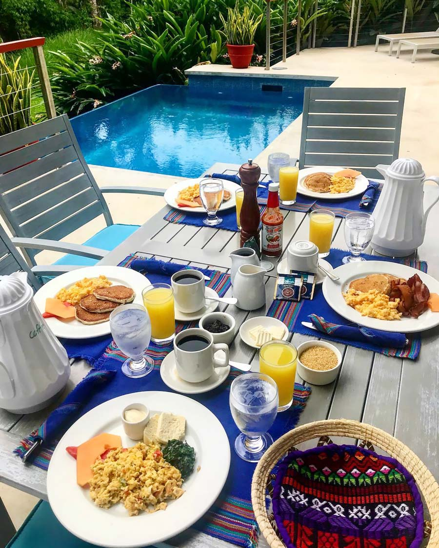 belize sun country winter warmer breakfast