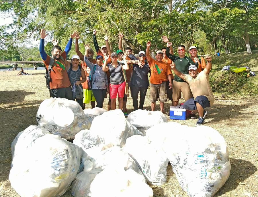 belize macal river cleanup 2019 chaa creek resort team