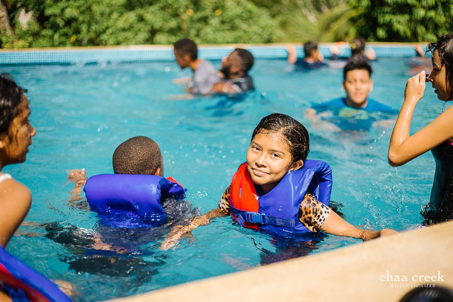 eco kids summer camp 2019 day 5 swimming in eco pool