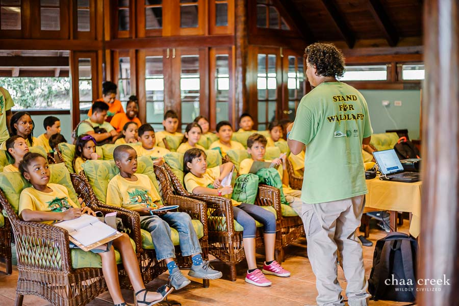 eco kids summer camp 2019 day 6 mr justin presenting