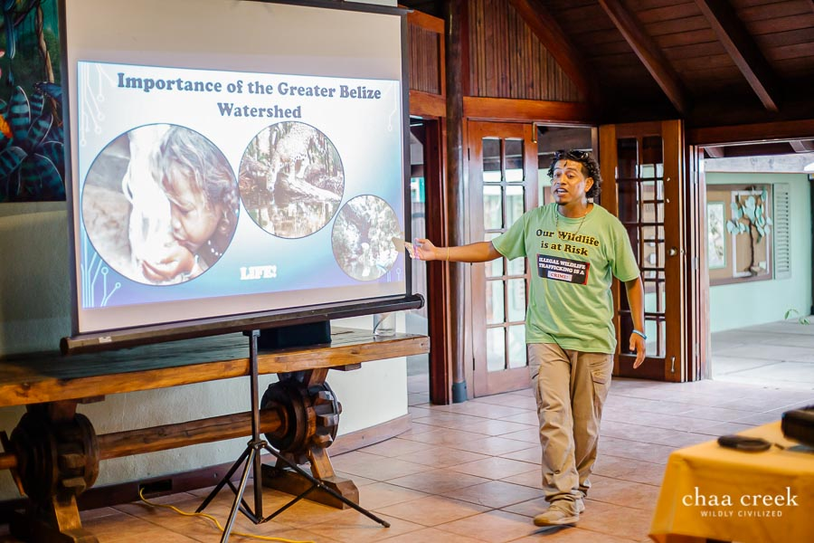 eco kids summer camp 2019 day 6 explaining about belize water sources