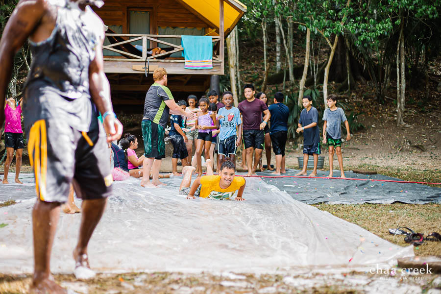 eco kids summer camp 2019 day 6 water sliding activity