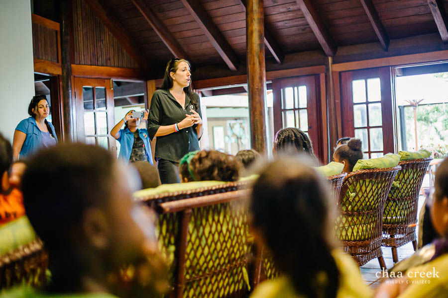 eco kids summer camp 2019 day 7 sarah mann presenting to kids