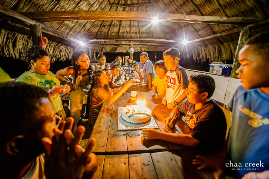 eco kids camp 2019 day 7 singing happy birthday with cake