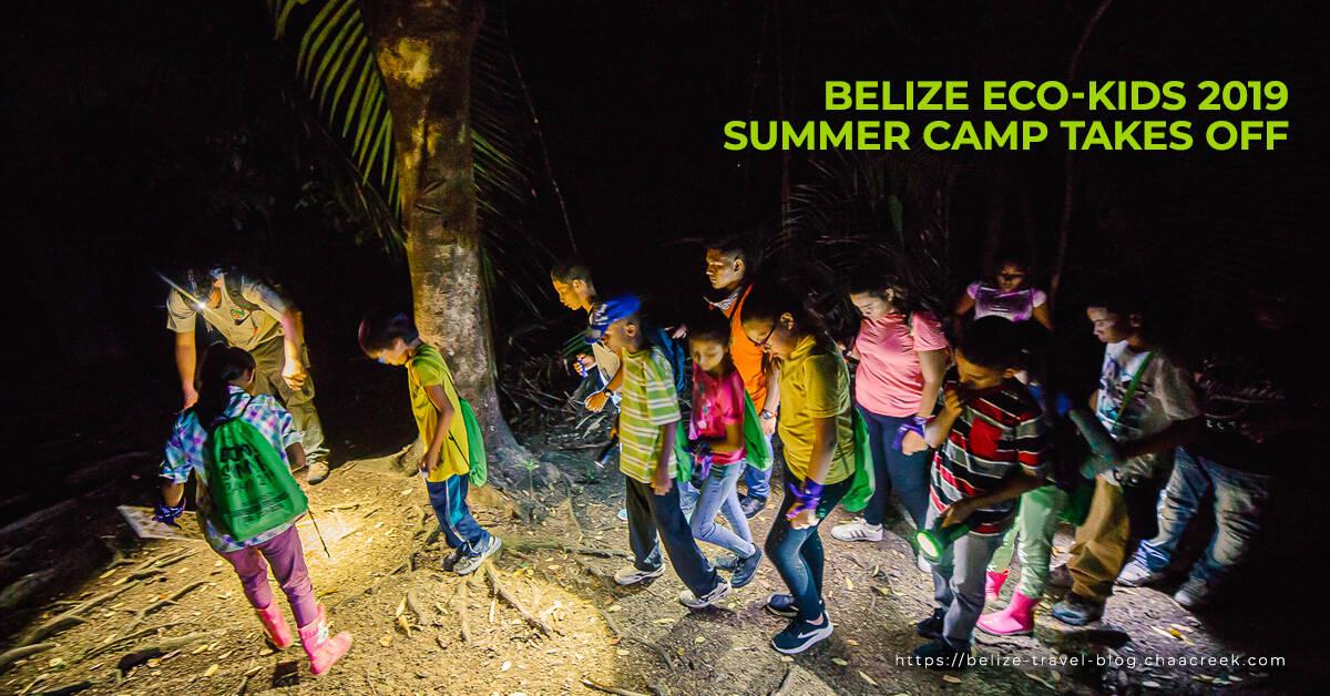 Belize eco kids summer camp 2019 takes off