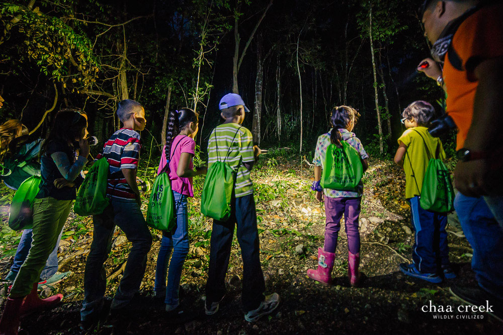 eco kids summer camp 2019 night hike preparation