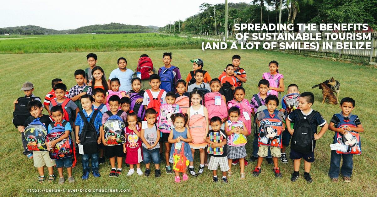 chaa creek cares corozalito funday blog header kids group photo
