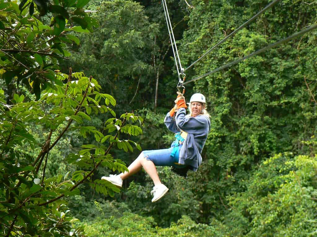 belize romantic getaways ziplining tour