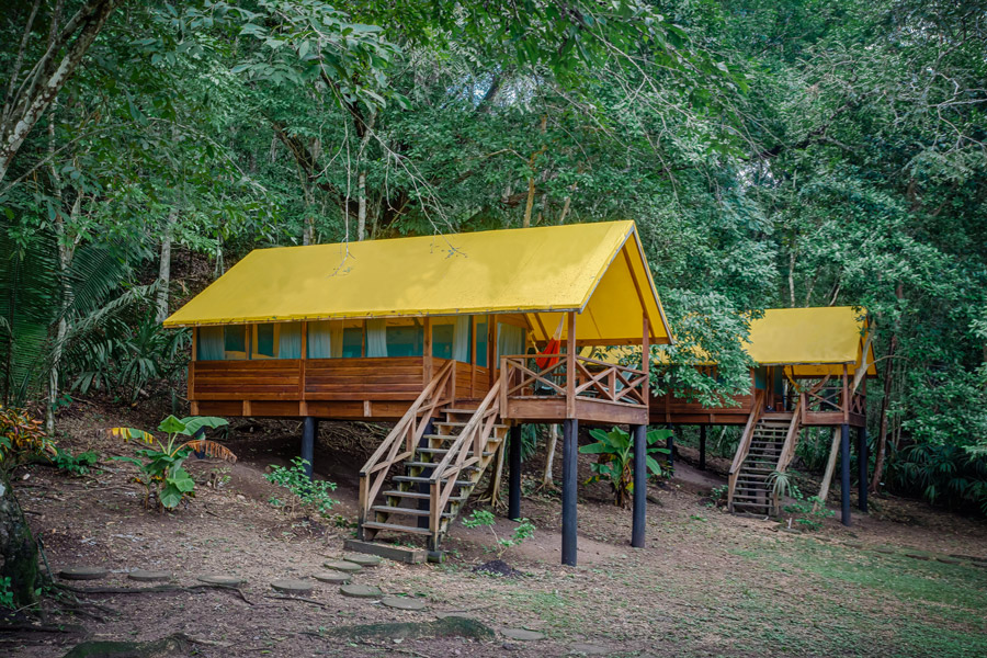 belize rainforest retreat at chaa creek eco pods exterior